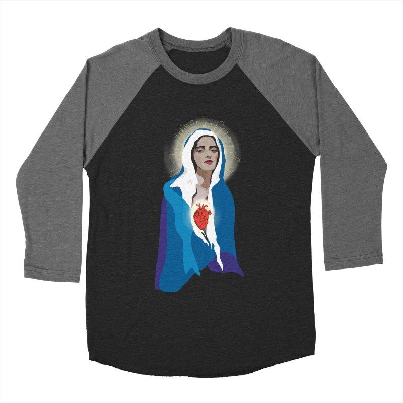 Virgin of Guadalupe Men's Baseball Triblend T-Shirt by Anna McKay's Artist Shop