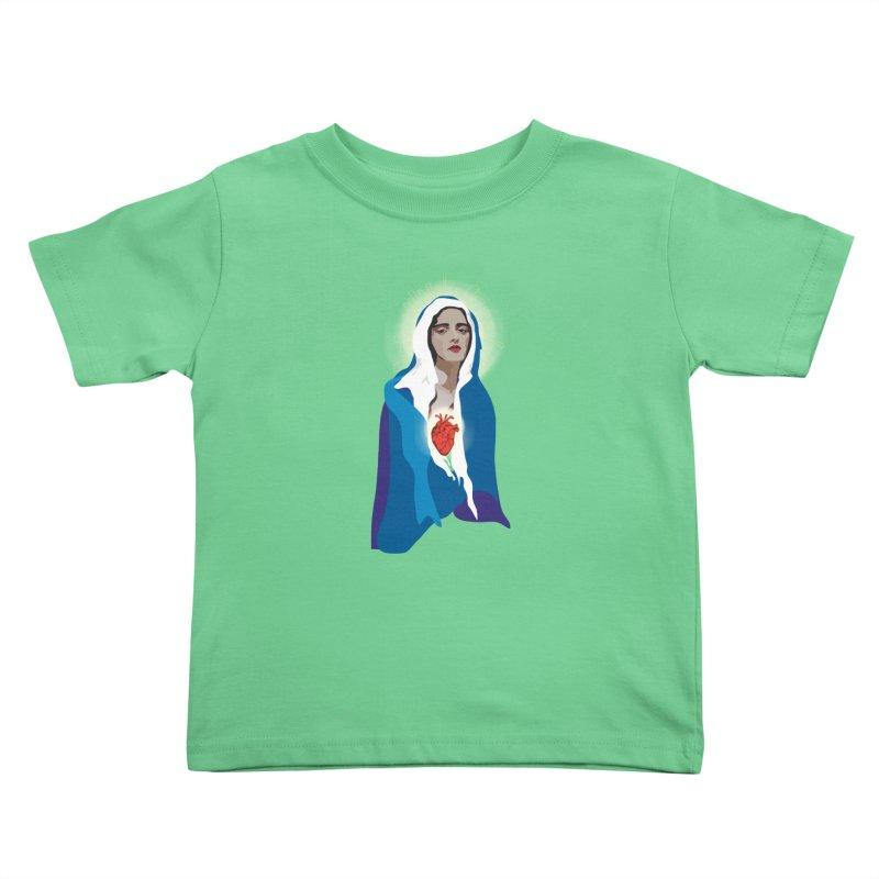 Virgin of Guadalupe Kids Toddler T-Shirt by Anna McKay's Artist Shop