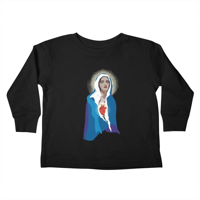 Virgin of Guadalupe Kids Toddler Longsleeve T-Shirt by Anna McKay's Artist Shop