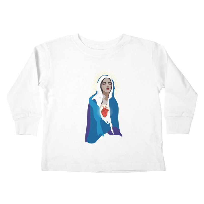 Virgin of Guadalupe Kids Toddler Longsleeve T-Shirt by Anna McKay's Artist Shop