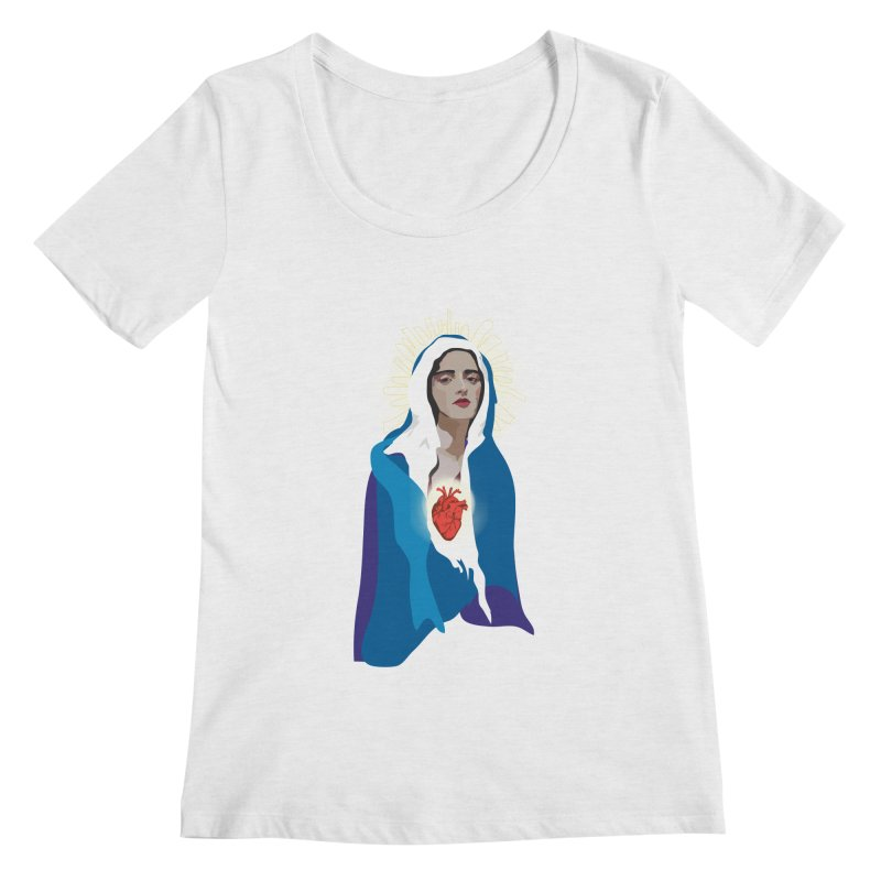 Virgin of Guadalupe Women's Scoopneck by Anna McKay's Artist Shop