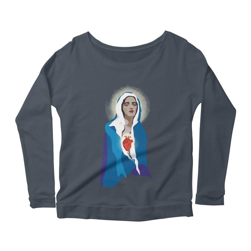 Virgin of Guadalupe Women's Longsleeve Scoopneck  by Anna McKay's Artist Shop