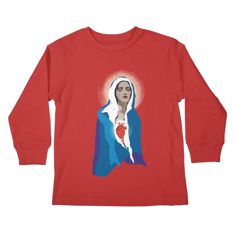 Virgin of Guadalupe Kids Longsleeve T-Shirt by Anna McKay's Artist Shop