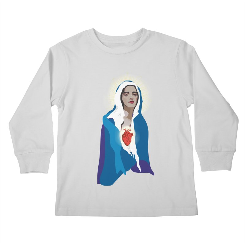 Virgin of Guadalupe Kids Longsleeve T-Shirt by Anna McKay's Artist Shop