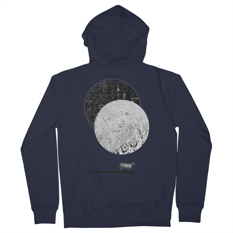 Calculating a Jump Over the Moon Men's Zip-Up Hoody by Anna Pietrzak