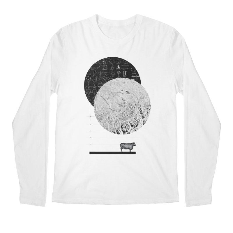 Calculating a Jump Over the Moon Men's Longsleeve T-Shirt by Anna Pietrzak
