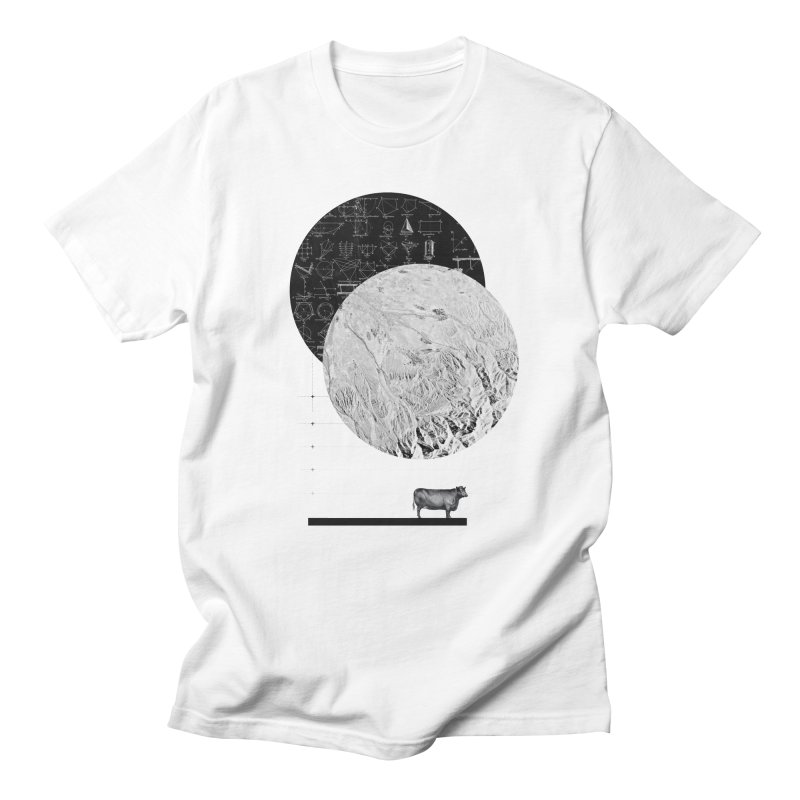 Calculating a Jump Over the Moon Men's T-Shirt by Anna Pietrzak
