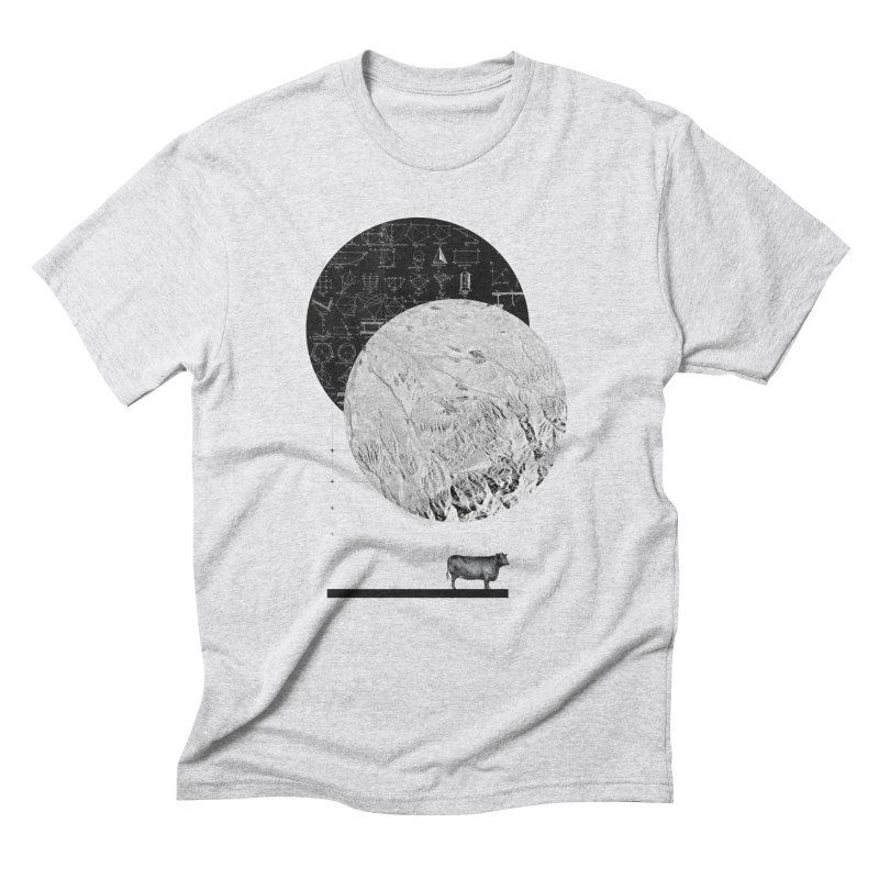 Calculating a Jump Over the Moon Men's Triblend T-shirt by Anna Pietrzak