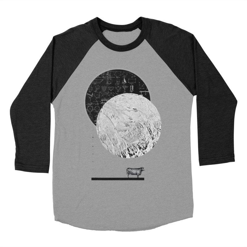 Calculating a Jump Over the Moon Men's Baseball Triblend T-Shirt by Anna Pietrzak