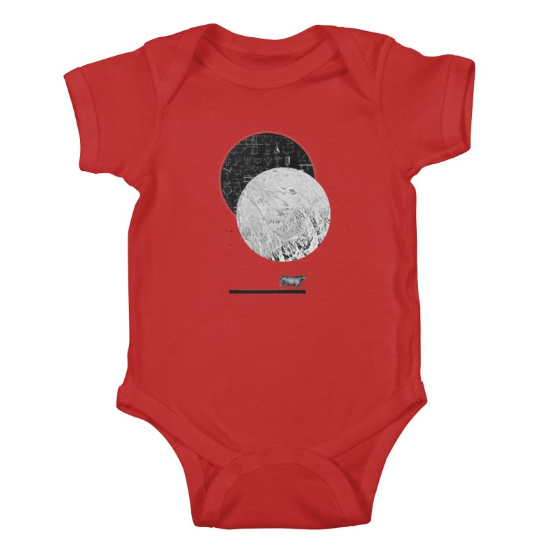 Calculating a Jump Over the Moon Kids Baby Bodysuit by Anna Pietrzak