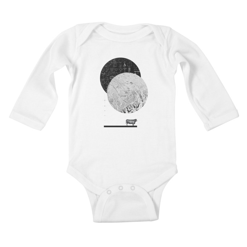 Calculating a Jump Over the Moon Kids Baby Longsleeve Bodysuit by Anna Pietrzak