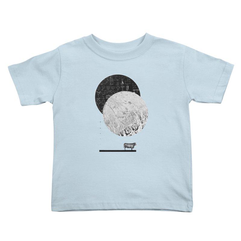 Calculating a Jump Over the Moon Kids Toddler T-Shirt by Anna Pietrzak