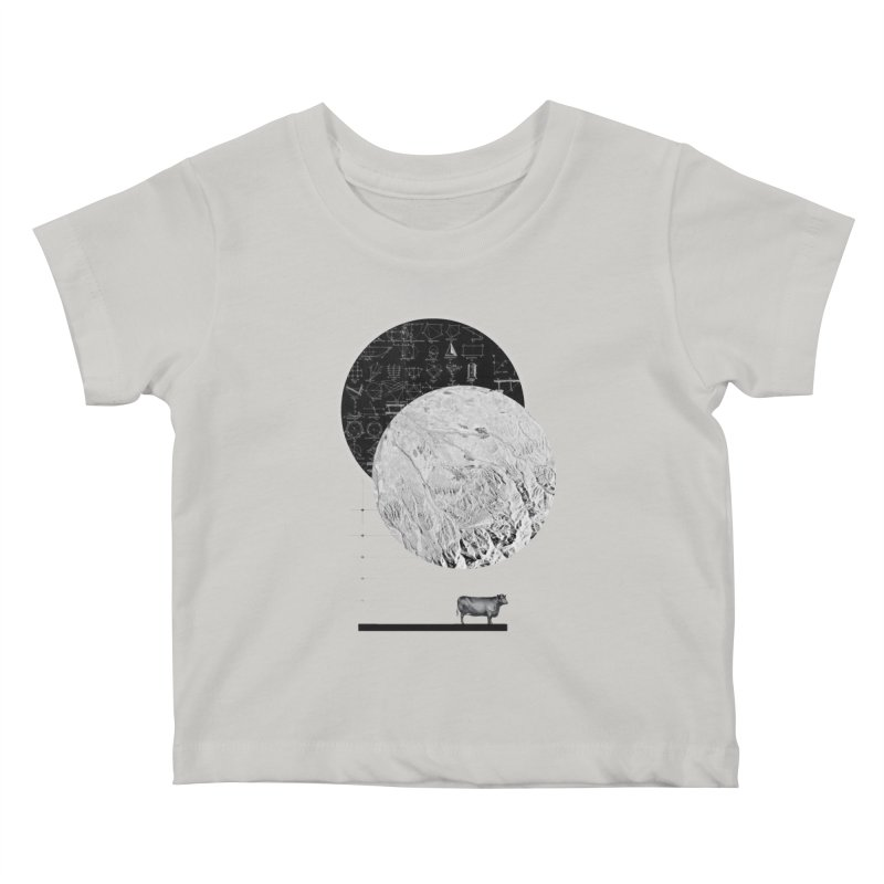 Calculating a Jump Over the Moon Kids Baby T-Shirt by Anna Pietrzak