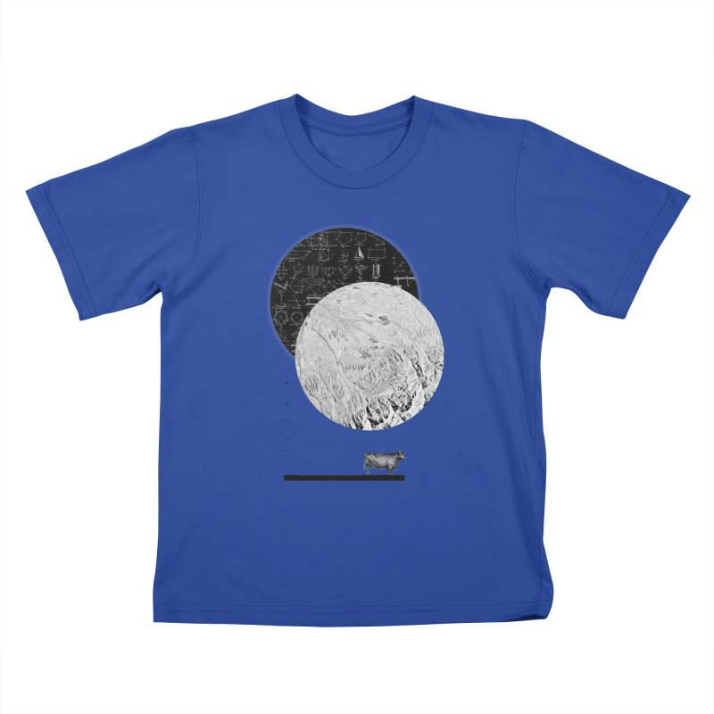 Calculating a Jump Over the Moon Kids T-Shirt by Anna Pietrzak
