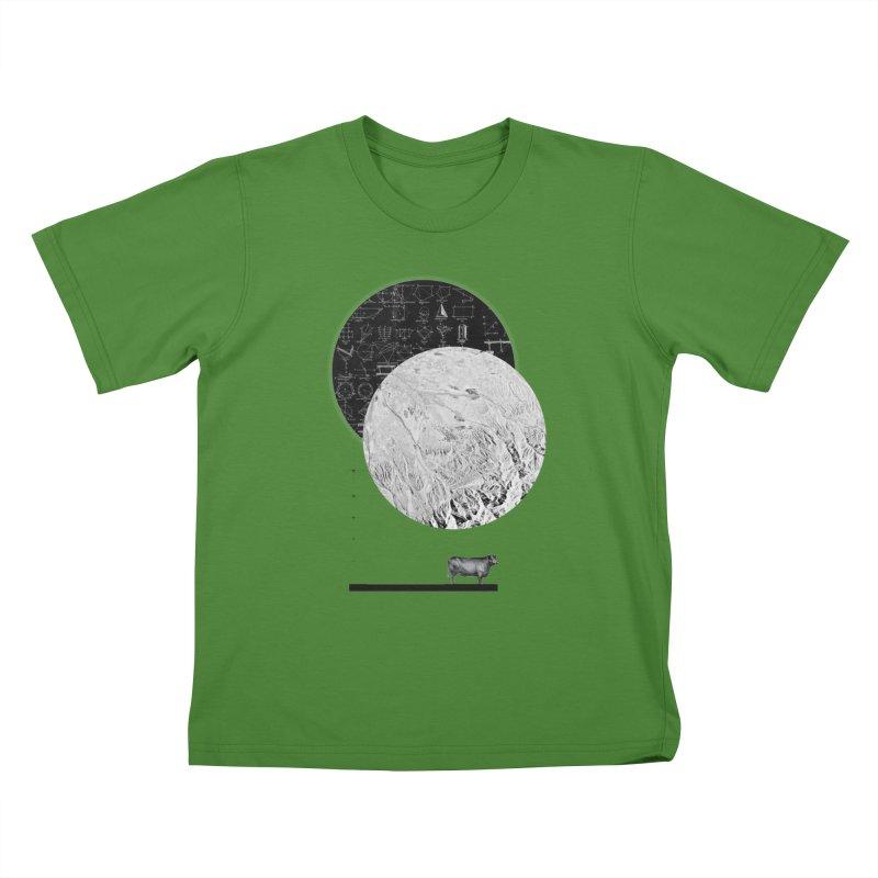 Calculating a Jump Over the Moon Kids T-Shirt by Anna Pietrzak