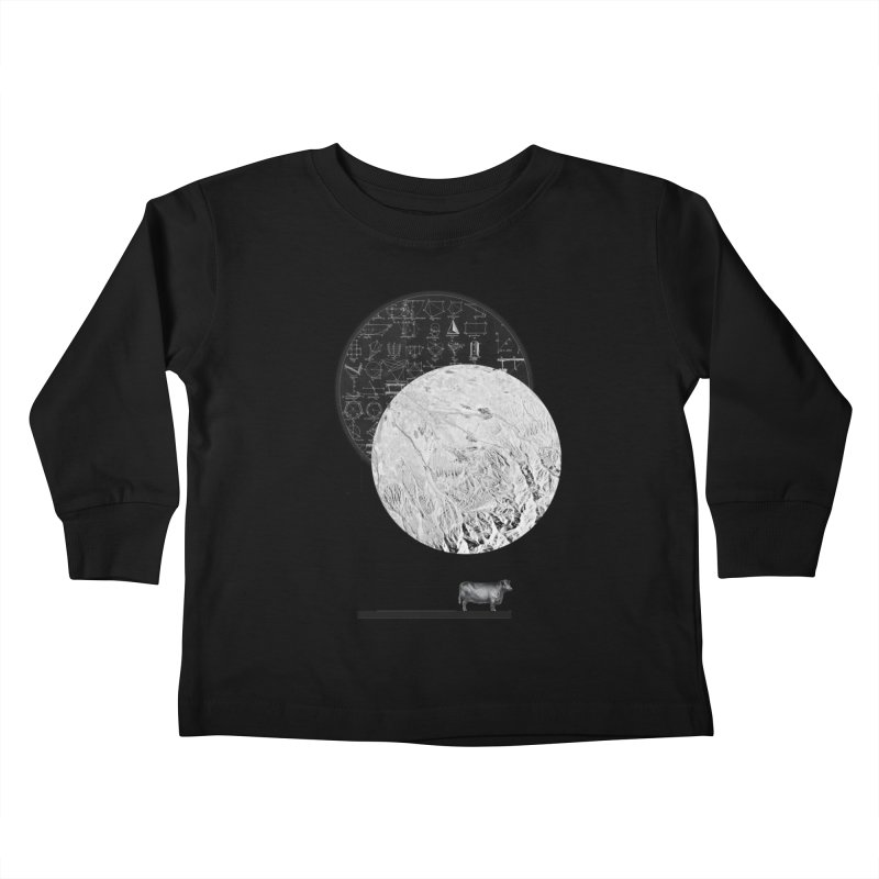 Calculating a Jump Over the Moon Kids Toddler Longsleeve T-Shirt by Anna Pietrzak