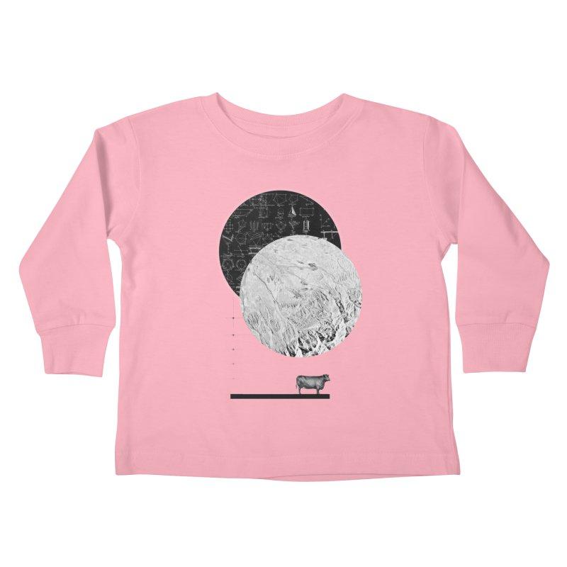Calculating a Jump Over the Moon Kids Toddler Longsleeve T-Shirt by Anna Pietrzak
