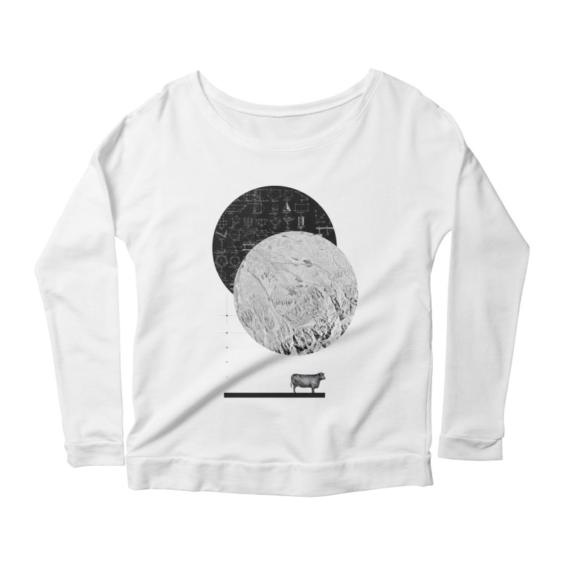 Calculating a Jump Over the Moon Women's Longsleeve Scoopneck  by Anna Pietrzak