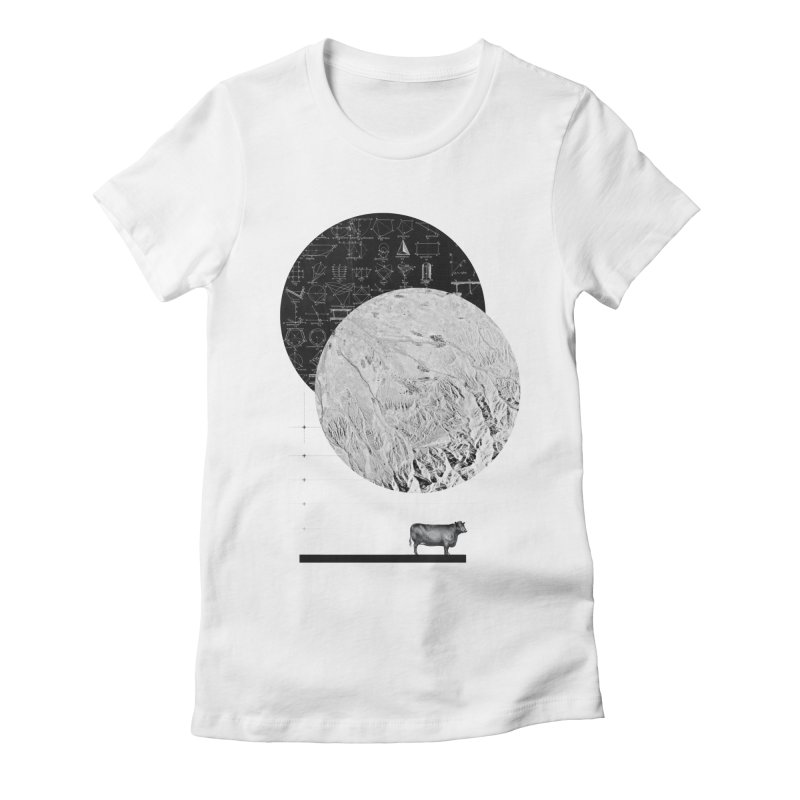 Calculating a Jump Over the Moon Women's Fitted T-Shirt by Anna Pietrzak