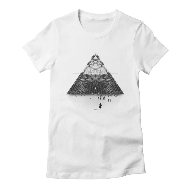 Darkside Women's Fitted T-Shirt by Anna Pietrzak