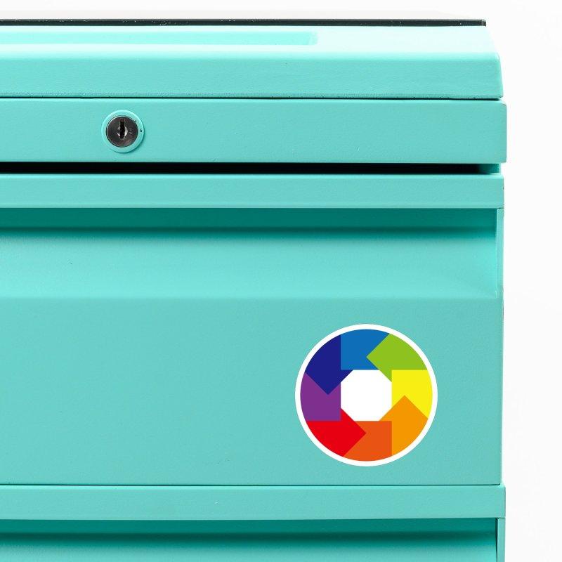 Rainbow Round Accessories Magnet by Anna Art X Design