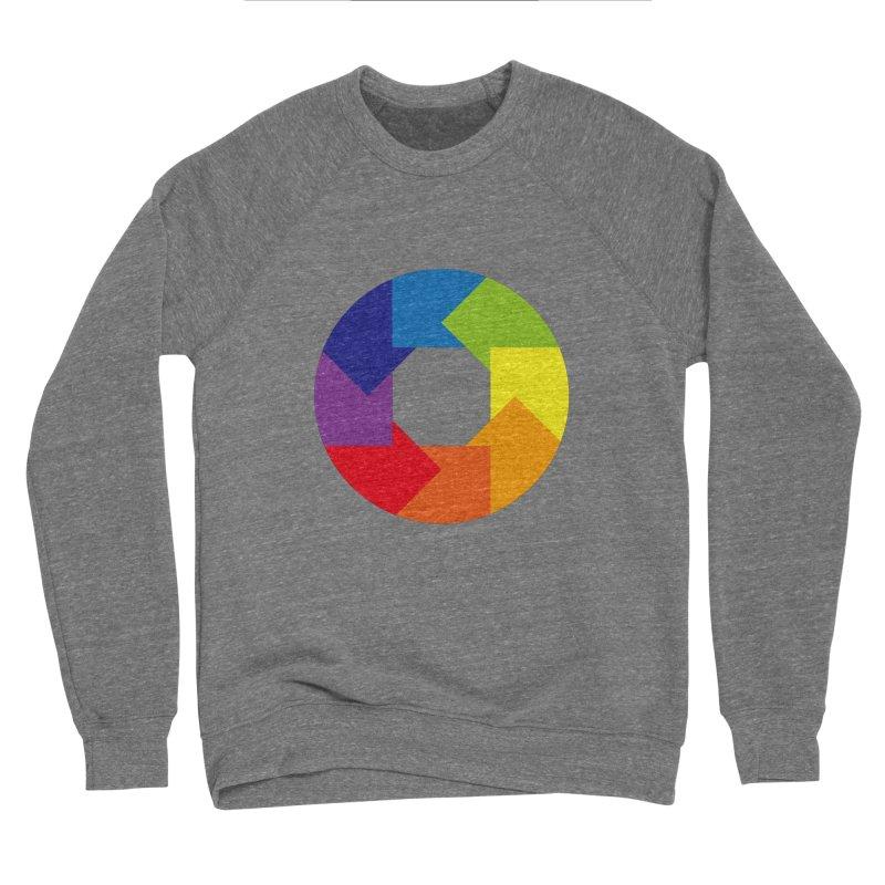Rainbow Round Men's Sweatshirt by Anna Art X Design