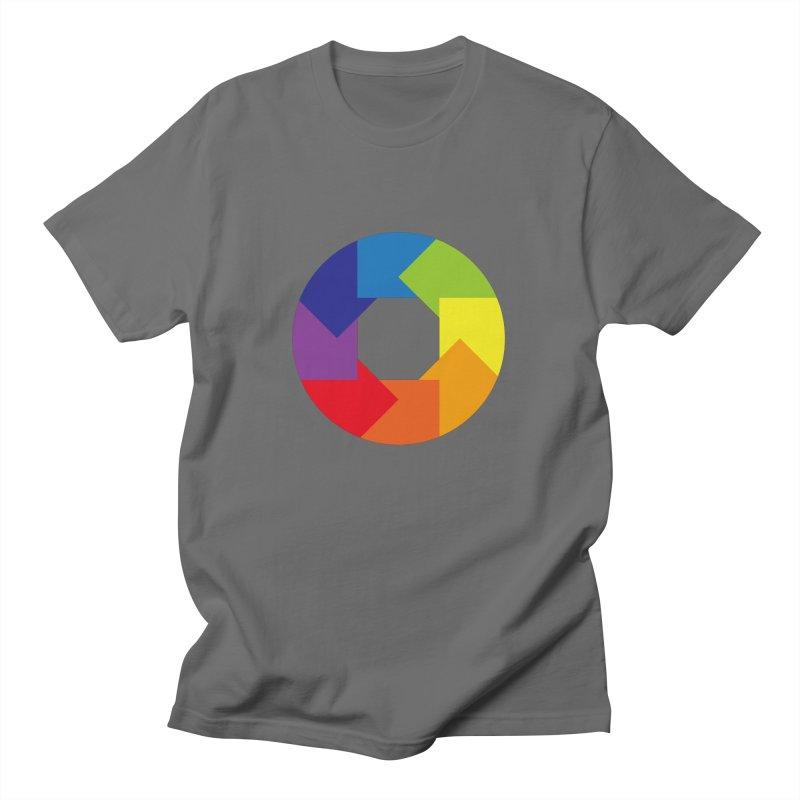 Rainbow Round Men's T-Shirt by Anna Art X Design