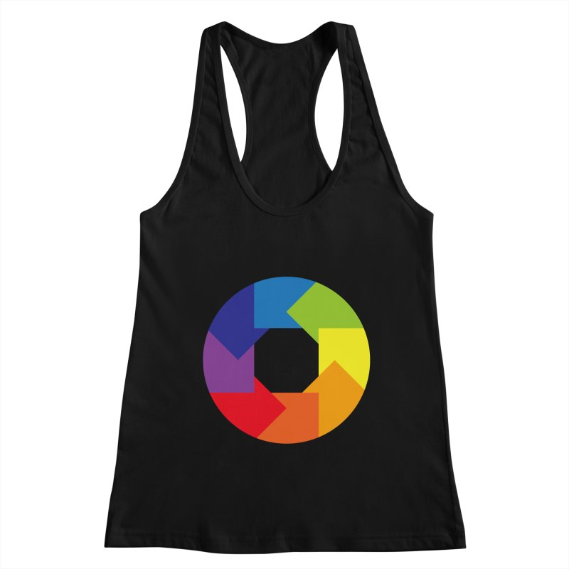 Rainbow Round Women's Tank by Anna Art X Design