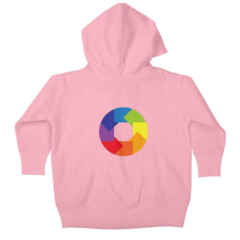 Rainbow Round Kids Baby Zip-Up Hoody by Anna Art X Design