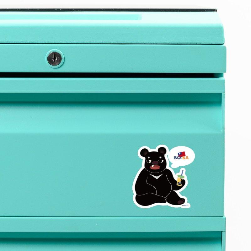 Boba Bear Accessories Magnet by Anna Art X Design