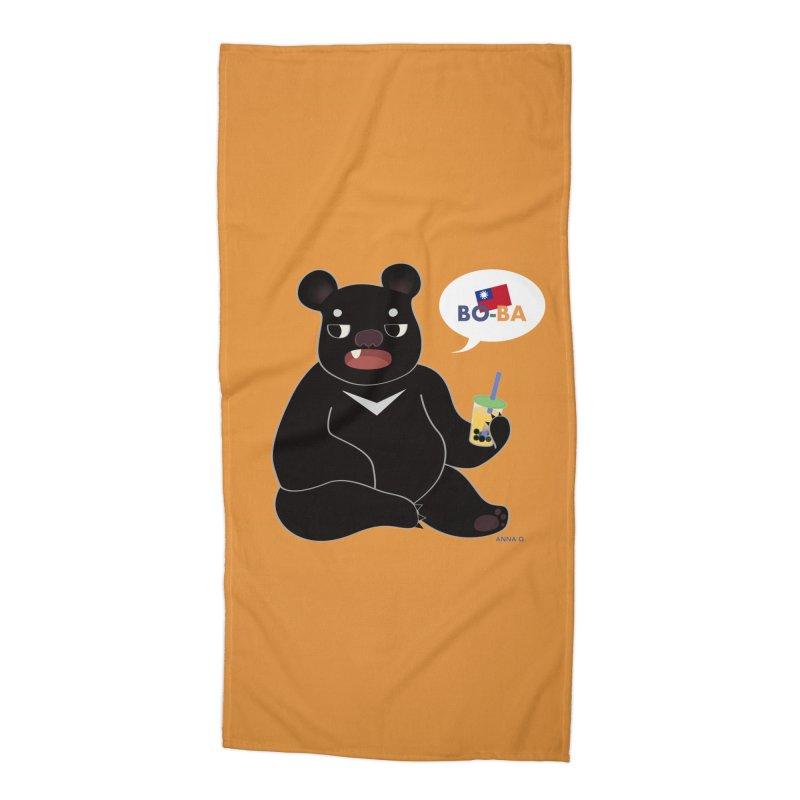 Boba Bear Accessories Beach Towel by Anna Art X Design