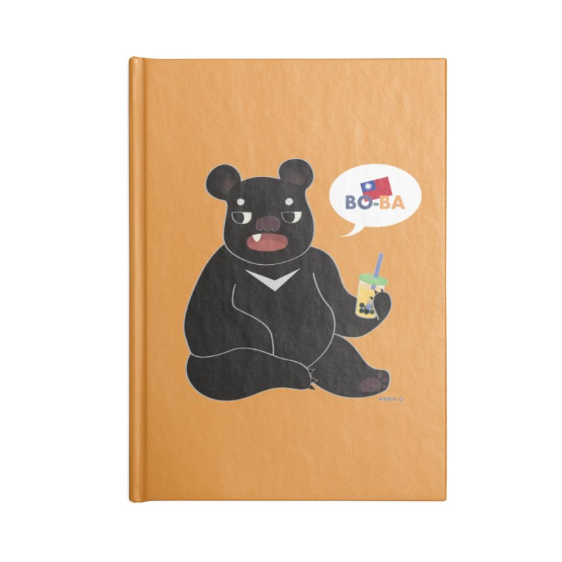 Boba Bear Accessories Notebook by Anna Art X Design
