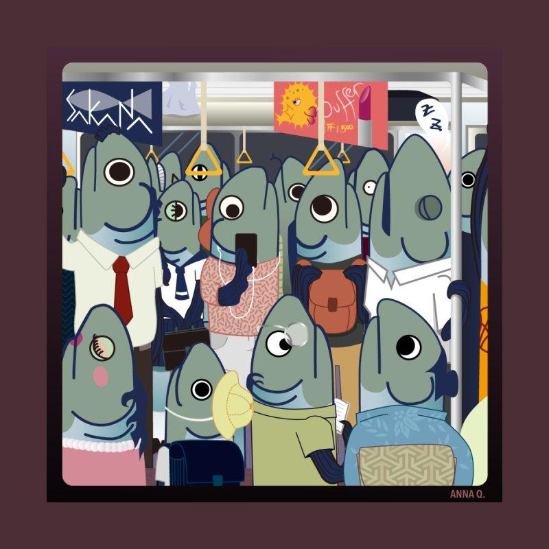 Sardines in a Train Home Fine Art Print by Anna Art X Design