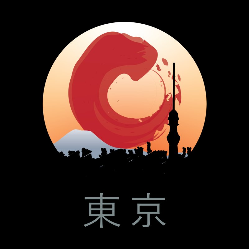 Tokyo Skyline Circle Window Women's Tank by Anna Art X Design