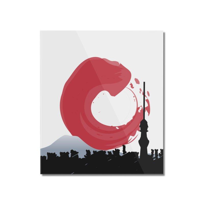 Tokyo Skyline Home Mounted Acrylic Print by Anna Art X Design