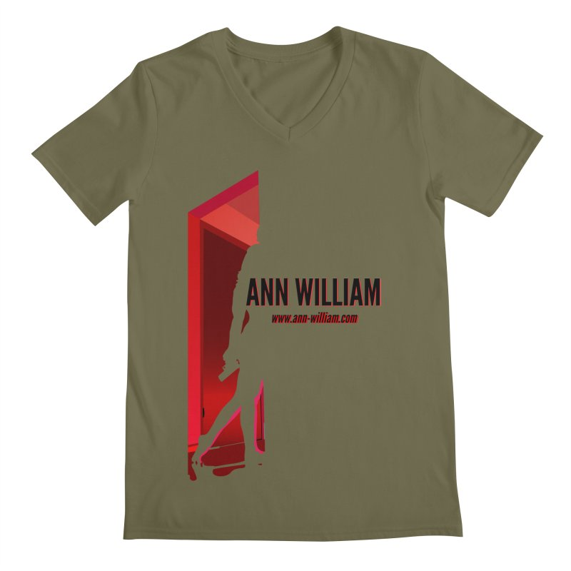 Krissy in the Doorway Men's Regular V-Neck by The Ann William Fiction Writer(s) Artist Shop
