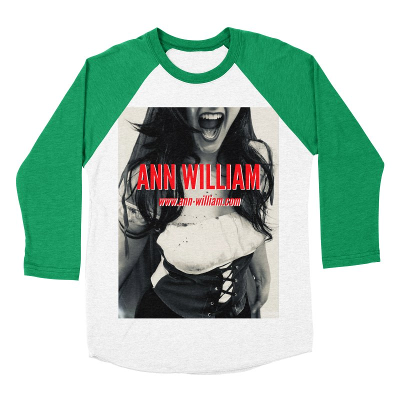 Screaming Krissy Women's Baseball Triblend Longsleeve T-Shirt by The Ann William Fiction Writer(s) Artist Shop