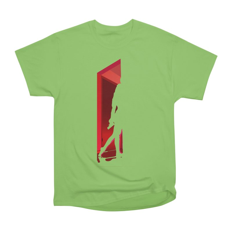 Krissy in the Doorway (No Text Version) Women's Heavyweight Unisex T-Shirt by The Ann William Fiction Writer(s) Artist Shop