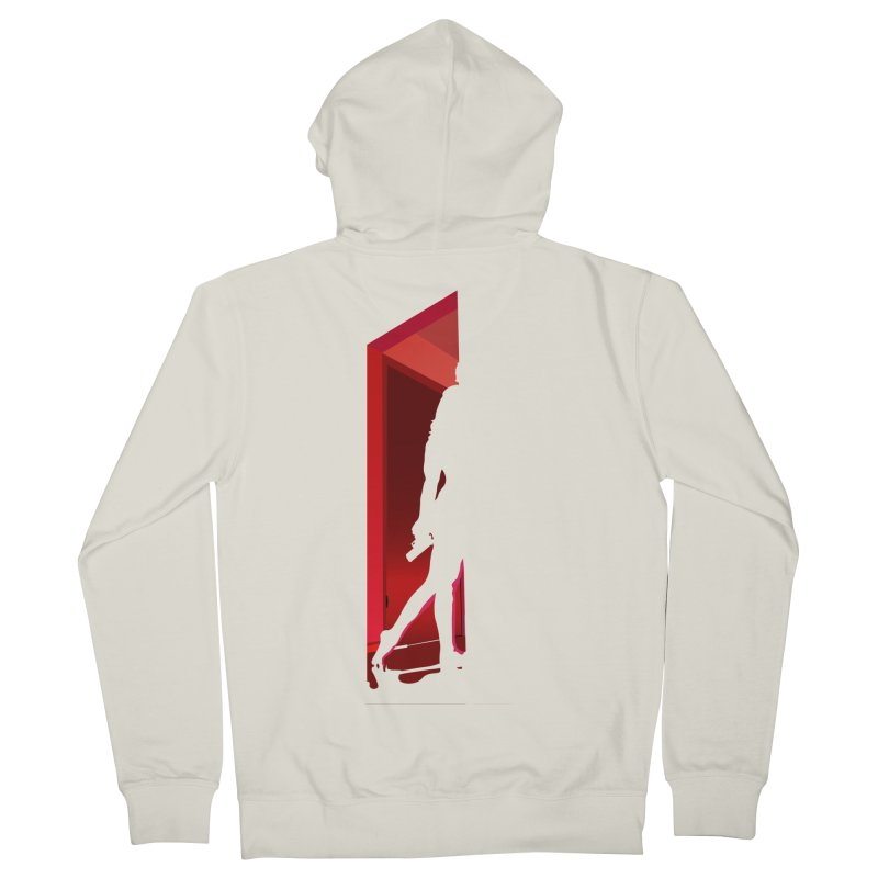 Krissy in the Doorway (No Text Version) Men's French Terry Zip-Up Hoody by The Ann William Fiction Writer(s) Artist Shop
