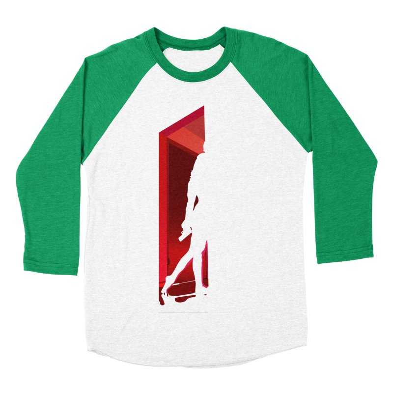 Krissy in the Doorway (No Text Version) Men's Baseball Triblend Longsleeve T-Shirt by The Ann William Fiction Writer(s) Artist Shop