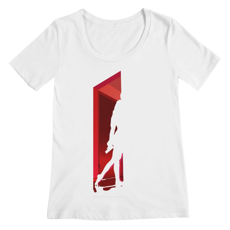 Krissy in the Doorway (No Text Version) Women's Regular Scoop Neck by The Ann William Fiction Writer(s) Artist Shop