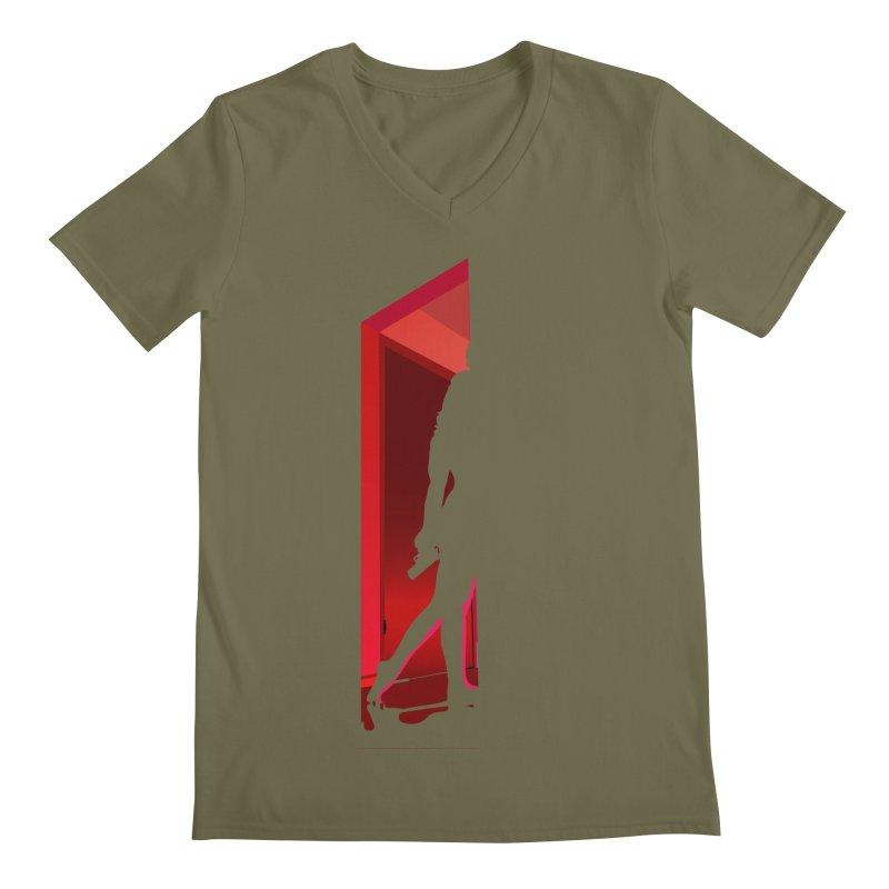 Krissy in the Doorway (No Text Version) Men's Regular V-Neck by The Ann William Fiction Writer(s) Artist Shop