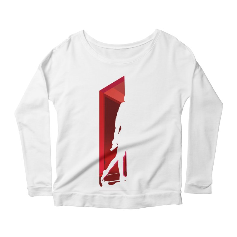 Krissy in the Doorway (No Text Version) Women's Scoop Neck Longsleeve T-Shirt by The Ann William Fiction Writer(s) Artist Shop