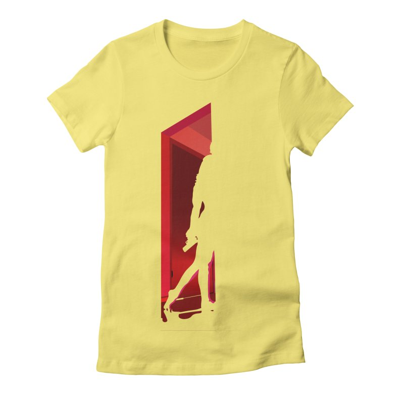 Krissy in the Doorway (No Text Version) Women's Fitted T-Shirt by The Ann William Fiction Writer(s) Artist Shop