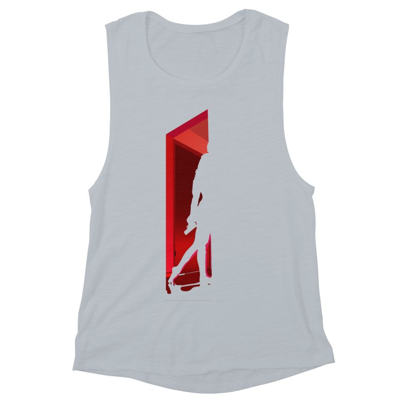 Krissy in the Doorway (No Text Version) Women's Muscle Tank by The Ann William Fiction Writer(s) Artist Shop