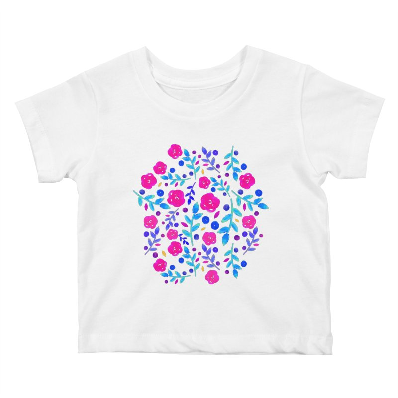 Petites Blumen  Kids Baby T-Shirt by AnnyCeciliaWalter's Galerie