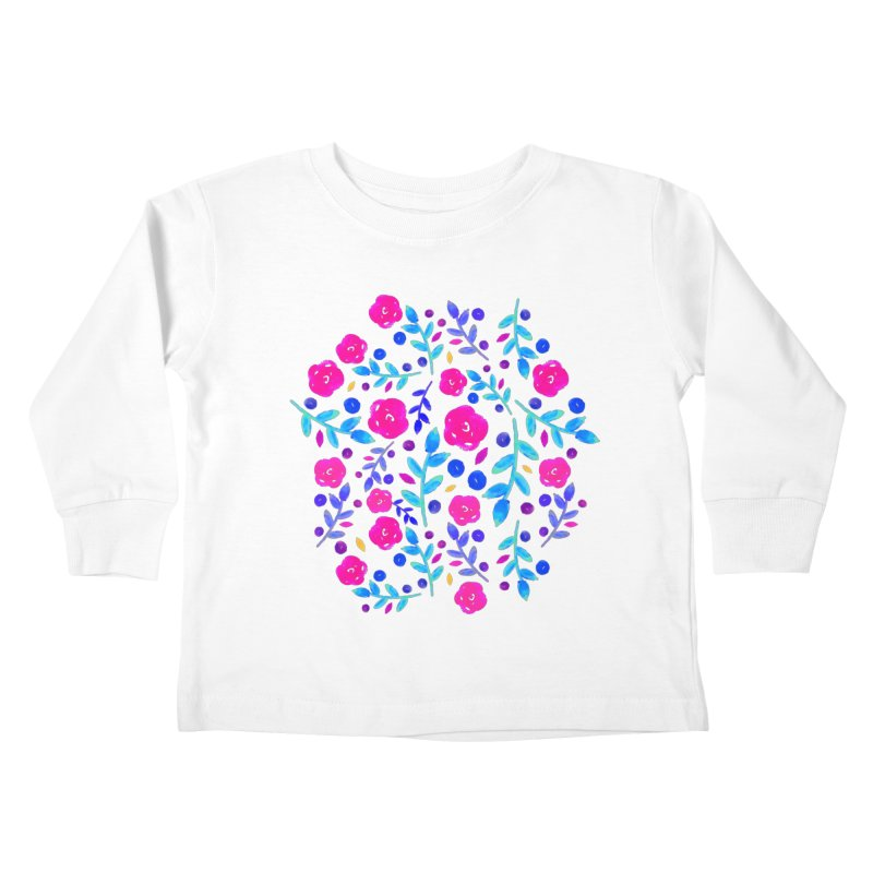 Petites Blumen  Kids Toddler Longsleeve T-Shirt by AnnyCeciliaWalter's Galerie