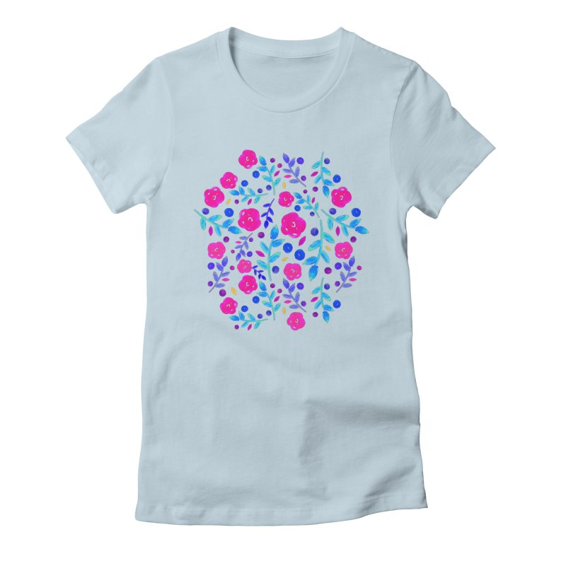 Petites Blumen  Women's Fitted T-Shirt by AnnyCeciliaWalter's Galerie