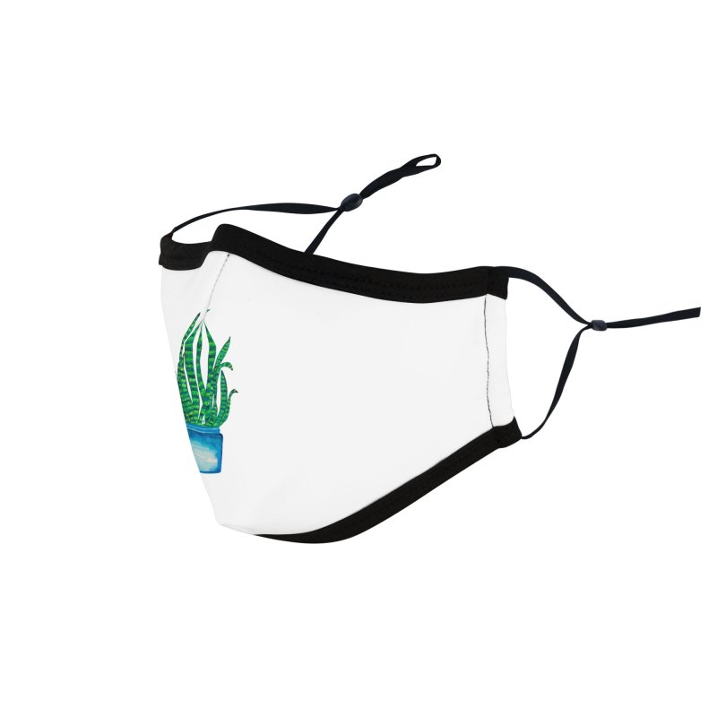Snake Plant, Quarantine Watercolor Accessories Face Mask by anoellejay's Artist Shop