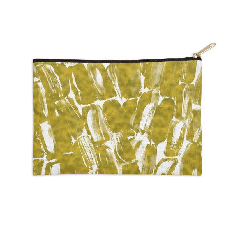 Gold Sugarcane Accessories Zip Pouch by anoellejay's Artist Shop